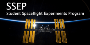 Student Spaceflight Experiments Program banner showing the International Space Station