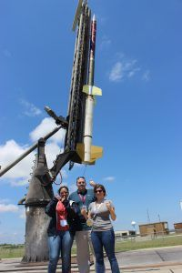 Team from Capitol Technology University stands in front of RockOn rocket.