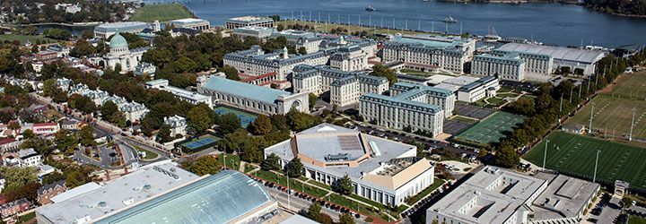 Aerial image of United States Naval Academy