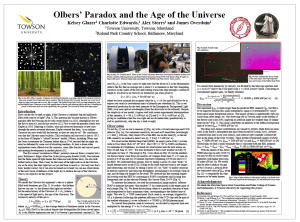 Olbers paradox poster from 231st AAS meeting.