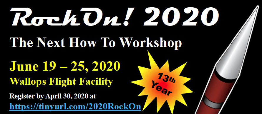 RockOn! 2020 workshop banner