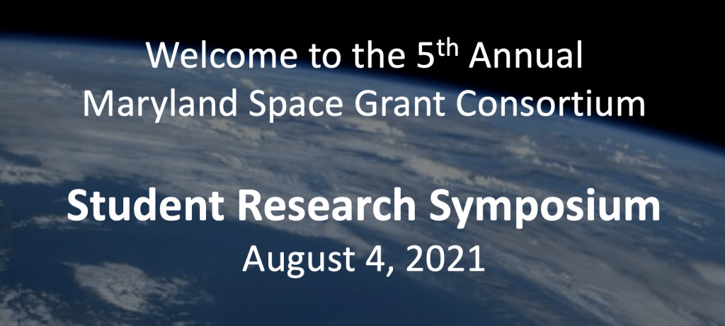 Banner for August 4 2021 student research symposium